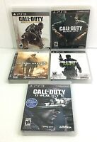 PS3 Call of Duty Lot of 5 Games Black Ops Modern Warfare 2 & 3 Ghosts Advanced