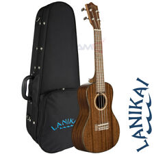 NEW Lanikai MAS-C All Solid Mahogany Series Concert Acoustic Ukulele with Case