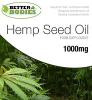 Hempseed Oil 1000mg Omega 3 6 9 Tocopherol 60 / 120 / 180 Capsules Better Bodies