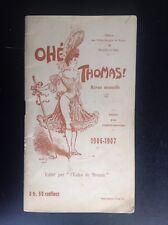 Ancien Programme Theatre Folies Bergères Rouen Revue 1906 1907 TBE