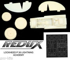 Set de détaillage LOCKHEED P 38 J Lightning  - KIT REDUX 1/72 N° 72001
