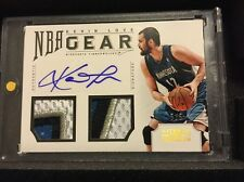 Kevin Love 2012-13 NATIONAL TREASURES NBA GEAR COMBO GU PATCH AUTO SSP 5/5! CAVS