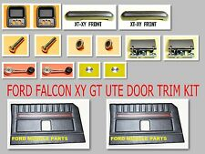 FORD FALCON XY GT GS BLACK  DOOR TRIM INTERIOR  KIT FOR UTE