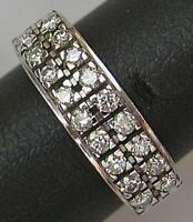 Brillantring Ring Diamanten 0,26 ct. 18 Kt. 750 Gold .