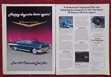 1989 Print Ad Danbury Mint Diecast Model Car ~ 1957 Chevy Chevrolet Bel Air