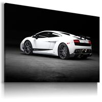 LAMBORGHINI GALLARDO WHITE Sports Car Wall Art Canvas Picture  AU452 MATAGA .