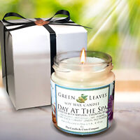 Handmade, Day At The Spa, Aromatherapy Highly Scented Soy Candle. Gift For Her