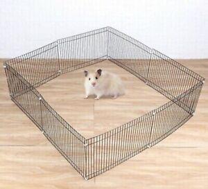 Small Folding Pet Dog 8 Panel Garden Guinea Pig Hamster Metal Fence Cage