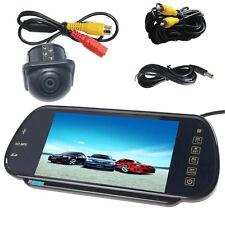 "7"" MP5 Bluetooth Car Rearview Mirror Monitor+ Night Vision Auto Reverse Camera"