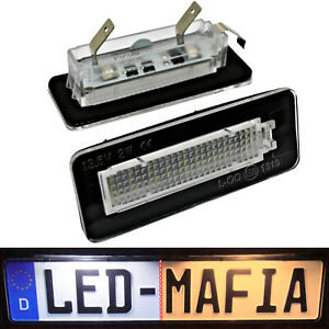 2x Smart W450 W451 - LED License Plate Light Module - 6000K - Fortwo Cabriolet