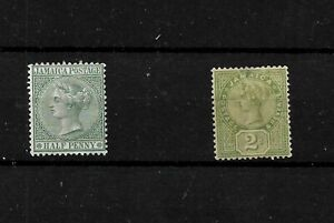 Jamaica 1883/89 QV definitives, mint  (see notes) (J020)