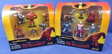 THE INCREDIBLES LOT OF TWO 6 FIGURE SETS INCREDIBLE HEROES & BATTLE HASBRO 2003