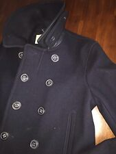 "BURBERRY   BRIT MEN'S ""WOOLSON  ABJUD"" PEAT NAVY MILITARY  JACKET (XLARGE)$1495"
