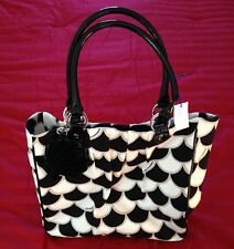 Lulu Guinness 50's Scallop Print Pleated Tote Bag BNWT