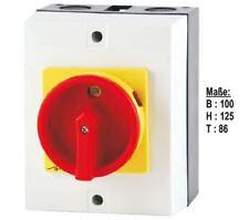 20A Hauptschalter Reparaturschalter 4 polig AP Gehäuse Lasttrennschalter Not-Aus
