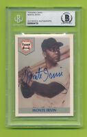 1992 Front Row Autographed Card Beckett Slabbed & Certified - Monte Irvin