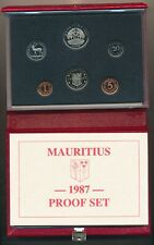 Mauritius: 1987 Proof Set in Royal Mint Package, Scarce