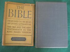 Vintage 1936 Bible Designed To Be Read As Living Literature King James LIKE NEW