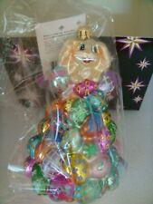 Christopher Radko Easter High Roller Bunny With Easter Eggs