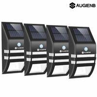 4pcs Solar Powered PIR LED Wall Light Motion Sensor Security Lamp Outdoor Lamp