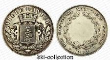 Médaille Tir Cantonal Militaire 1899. Ville d'AVIZE (Marne). Argenté