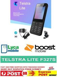 Telstra Lite ZTE F327S 3G (Telstra/Boost/Lycamobile Network) Black Mobile Phone