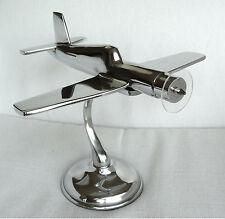 Grande Modello Aereo 34cm ALLUMINIO colmore Modellino aeroplano metallo argento