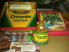 1992 Crayola Collectible Holiday Tin 64 Crayons Ornament New Opened