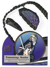 Tommy Salo,1999-00 Pacific Aurora Glove Unlimited Card, # 9, Edmonton