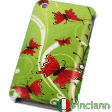 Custodia rigida full cover FARFALLE ROSSE x iPhone 3G S
