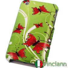Custodia rigida full cover FARFALLE ROSSE x iPhone 3G S