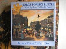 "Piccadilly Square London Bits & Pieces Puzzle 300 Pc Jigsaw Sandi LeBron 18X24"""
