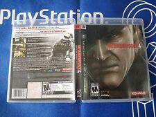 PS3 GAME METAL GEAR SOLID 4 (ORIGINAL USED)