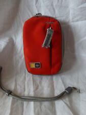 "CASE LOGIC Orange Zip Top SMALL Compact CAMERA CASE  New W/O TAGS 5"" x 3"""