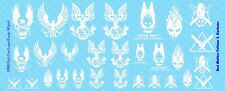 1/6 Scale Decals: WHITE Halo Unit Logos - Waterslide Decals