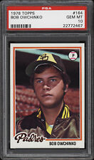 1978 Topps #164 Bob Owchinko - Padres - PSA 10 - 22772467