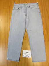 used levis 550 relaxed fit grunge jeans tag 38x30 meas 36x29.5 zip11847