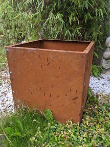 Edelrost Garten Schale Pflanzschale Rost Gartendeko Blumentopf Pflanzkübel