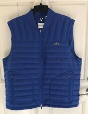 Lacoste Men's Blue Down Vest US Size 4XL FR 60