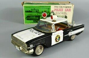 R&L Diecast: Ichiko Japanese Tinplate 1960's Chevy Police Car Chevrolet, Boxed