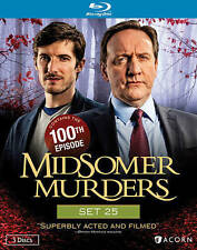 Midsomer Murders: Set 25 (Blu-ray Disc, 2015, 3-Disc Set) With Slip Cover