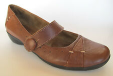 Naturalizer Natural Soul Navero Brown Leather Mary Jane Shoes Womens 7.5 VGC