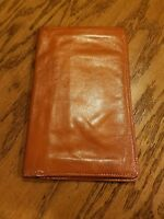 Black Prince Made in England Tan Wallet Pocket Secretary Polished Cowhide