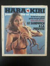 HARA KIRI n° 191 aout 1977 ( Choron, Wolinski, Reiser, Cabu, Cavanna ...)