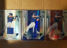 LOT 2004 MARK TEIXEIRA LEAF CERTIFIED MIRROR RED WHITE BLUE GAME USED JERSEY BAT