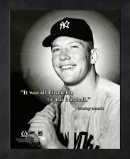 "MICKEY MANTLE ~ 8x10 Color Pro Quote Photo Picture ~ Framed 9x11 ~ ""Lived"""