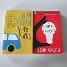 John Green Books - Paper Towns The Abundance of Katherines
