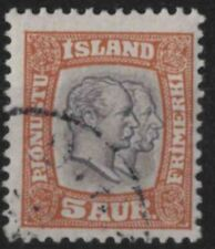 t307) Iceland. 1907. Used. SG O101 5a Sepia & brown. Official.