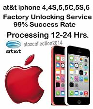 AT&T USA IPHONE 6S 6+ 6 5C 5S 4C 4S 3GS 3G Factory unlock clean imei service