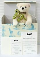 "Steiff 036859 Teddy Bear Mistletoe 12"" LE 1500 New W/ Box and Certificate"